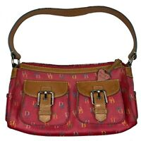 Dooney & Bourke Signature Handbag Logo Bubblegum Pink Rainbow Shoulder Bag