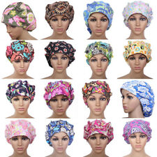 Fashion Surgical Bouffant Scrub Cap with Sweatband Medical Doctor Ponytail Hats