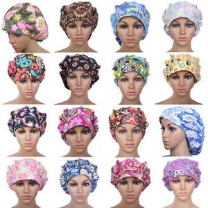 Fashion Cotton Bouffant Scrub Cap with Sweatband kitchen new Ponytail Hats
