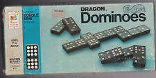 DRAGON DOUBLE NINE DOMINOES 55 PIECES by MILTON BRADLEY, NO. 4132 1970 EUC