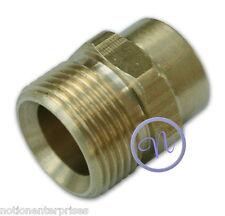 M22 Macho & 1/4 Mujer latón Socket, conector de acoplamiento Bsp Rosca de montaje