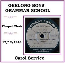 Choir & Boys Geelong Grammar School  Carol Service 1943 In the Bleak Midwinter