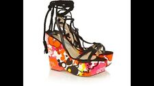 Jimmy Choo Pearl Floral-print Faille Lace Up