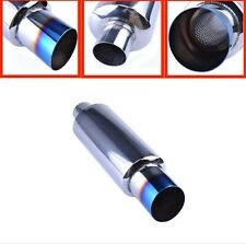 UNIVERSAL STAINLESS STEEL BLUE BURNT TIP PERFORMANCE BACK BOX EXHAUST UK SELLER