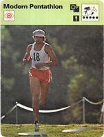 1977 Sportscaster Card Modern Pentathlon # 09-17 NRMINT.