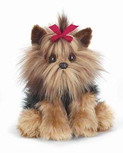 * New BEARINGTON Plush Toy YORKSHIRE TERRIER Stuffed Animal YORKIE PUPPY DOG Bow