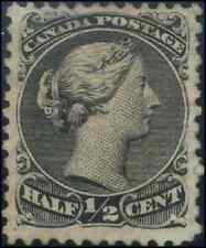 Canada #21vi mint F-VF NG 1868 Queen Victoria 1/2c grey black Large Queen