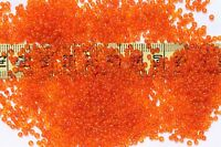 11/0 Old Time Glass Vintage French Trans Orange Seed Beads 1oz