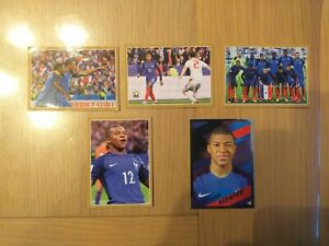 PANINI FIER D'ETRE BLEU 2018 : LOT 5 IMAGES DIFFERENTES ROOKIE KILLIAN MBAPPE