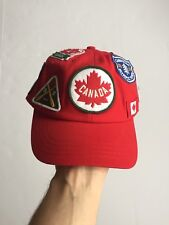 2012 Olympic Team Canada Hudson Bay Patch Work Strapback Hat Adjustable Snapbacl