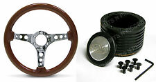 JAGUAR XJ5,XJ6 WOOD GRAN STEERING WHEEL AND BOSS Kit COMBO