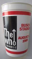 The Who St Louis Concert 1989 Souvenir Cup Busch Stadium Maximum R&B tour glass