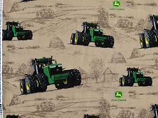 JOHN DEERE TRACTOR  BIG TIME FARM  SPRINGS CREATIVE  100% COTTON FABRIC  YARDAGE