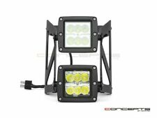 Black Dual Stacked Streetfighter LED Headlight - 42/43mm