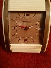 Westclox Travel Alarm Roll top type cover Vintage 40s or 50s clock collectible