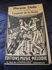 Partitura Morena Linda Campagnas de la Noche Luis Mostello 1951 Music Sheet