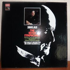 SIBELIUS  THE SEVEN SYMPHONIES  HALLÉ ORCHESTRA BARBIROLLI  EMI SLS 799  5LP-BOX