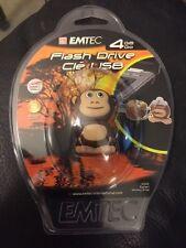Emtec 4GB M322 Safari Monkey USB Flash Drive With Strap New!!!