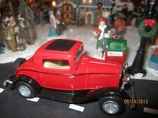 """House Village Die-Cast """" 1932 Red Ford Coupe """" + Dept 56/Lemax info"""