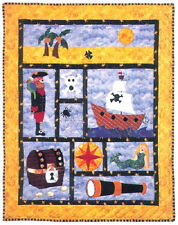 AHOY MATEY  New Pirate Quilt Pattern   Crib Size  36X44