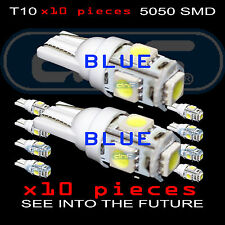 10 Pack Blue LED T10 W5W Car Wedge Light 5SMD Neon 194 147 152 158 159 161 168