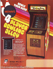 4-PLAYER BOWLING ALLEY 1978 MIDWAY NOS VIDEO ARCADE GAME MACHINE FLYER BROCHURE