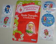 Vintage 1982 Strawberry Shortcake APPLE DUMPLIN' Miniature Figure PLUS Stickers!