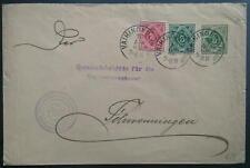 Württemb., GA-Umschlag DU5 A I 1906, Brief mit Mi Nr. 114+115 von VAIHINGEN