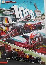 1000th FERRARI F1 GP Leclerc Vettel signed giant poster Mugello 70x50 Formula 1
