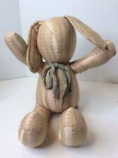 Vintage My Baby Bunny Rabbit Fabric Plush Stuffed Room Decor Rose Gold Beige USA