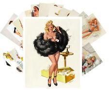 24 Postkarten Set * Sexy Swimsuits Lingerie Pinup Girls Retro Magazine CC1041