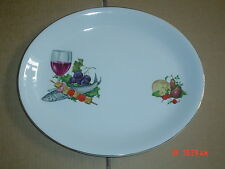 Alfred Meakin Glo White Ironstone Oval Platter Steak Fish Plate #1