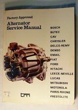 Factory Approved Alternator Service Manual, 1978, for Bosch, Chrysler, Ford, etc