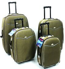SET OF 4 QUALITY SUITCASE LIGHTWEIGHT WHEEL SUITCASE TROLLEY TRAVEL LUGGAGE