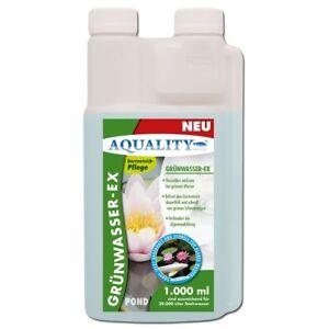 AQUALITY Grünwasser EX 1000 ml Teichklärer und Algenvernichter für klares Wasser