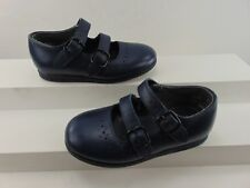 STRIDE RITE GIRLS NAVY LEATHER DOUBLE MARY JANE STRAP SIZE 5 1/2  NARROW