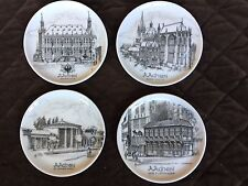 Uhlenhorst  Aachen Germany Mini Collector Plates 1849 Original Set of 4