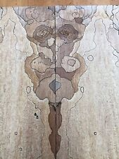 Wormy Spalted MapleLive Edge Rustic Bookmatched Kd Lumber Pair Bmsm4