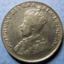 *1924  Vintage  CANADA  5 CENTS COIN, Very Fine Circulated KING GEORGE V COIN