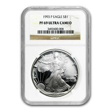 1993-P American Eagle Proof Silver Dollar NGC PF69 Ultra Cameo - 1 oz