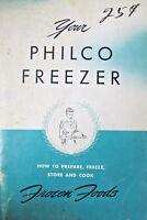 Your Philco Freezer 1950s Manual Advertising Booklet Pamphlet