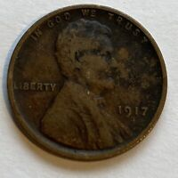 FREE SHIPPING! 1917 S Lincoln Wheat Cent -104 Year Old Penny -San Francisco A1