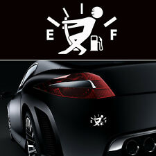 1PC Funny JDM  Pull Fuel Tank Pointer To Full Hellaflush Vinyl Car Sticker Decal