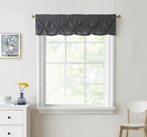 "Hudson Pintuck Window Curtain Valance 12""x60"