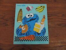 "Playskool Sesame Street 315-4 Cookies ""C"" 8 piece 3-5 yrs puzzle  Made in 1973"
