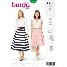Burda Style Misses' Side Pleat Skirt a Line Summer Wear Sewing Pattern 6342