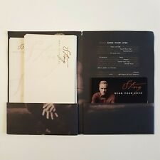 "STING : SEND YOUR LOVE ♦ RARE FRENCH PROMO CD + special ""Paper Letter"" package ♦"