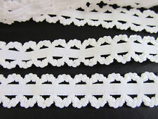 5 yards White Elastic/Spandex 15mm Double Edge Scallop Lace Trim/sewing/sew T200