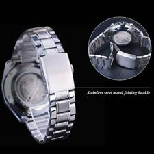 Men Automatic Mechanical Transparent Watch Wristwatch U2N4