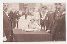 Royalty,Belgium,Duchess of Brabant,Later Queen Astrid,Signing Guest Book,1928